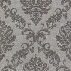 Shop Brewster Home Fashions Brewster Wallcovering Zinc Sebastion Damask Wallpaper at Lowe's Canada. Find our selection of wallpaper at the lowest price guaranteed with price match. Grey Damask Wallpaper, Embossed Wallpaper, Wallpaper Roll, Peel And Stick Wallpaper, Victorian Wallpaper, Wallpaper Bookshelf, Bronze Wallpaper, Classic Wallpaper, Cheap Wallpaper