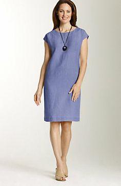 easy linen cap-sleeve dress