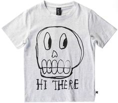 Hi Skull Cotton Tee - Minti - Buckets and Spades for kids