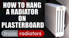 Wall-mounting a radiator onto plasterboard is actually very straightforward & Jimmy the plumber shows you how in this easy to follow video. Getting the measurements correct & using the right wall mounts are very important, but Jimmy shows you just how strong & secure plasterboard can be! The featured classic column radiator can be purchased here http://www.traderadiators.com/acatalog/own-brand-classic-columns.html