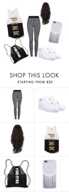 """""""random cute day"""" by aaliyah-kershaw on Polyvore featuring Topshop, NIKE and Victoria's Secret"""