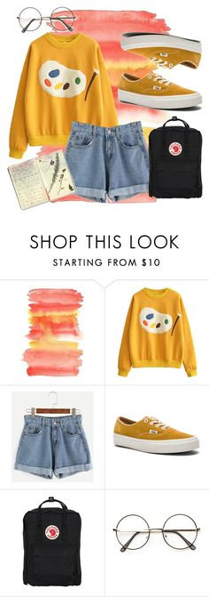 """Untitled #34"" by thedevil-666 ❤ liked on Polyvore featuring Vans, Fjällräven and Moleskine"