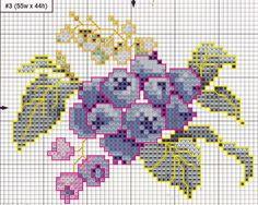 """Милые сердцу штучки: Вышивка крестом: """"Ягодное трио"""" / jagodowe trio 4/5"""
