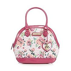 I love this cute little bag I saw whilst browsing Debenhams website, and its pink, perfect!   Floozie by Frost French - Pink chevron rose print kettle bag