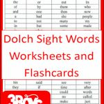 First 100 Dolch Sight Words Printables! Great for tiered students!