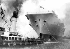 Ahead of the start of the new cruise ship season Peter Elson takes a look at our maritime history Liverpool Town, Liverpool Docks, Rms Mauretania, Hms Ark Royal, Tug Boats, Sailing Ships, Cruise, Nostalgia, How To Memorize Things