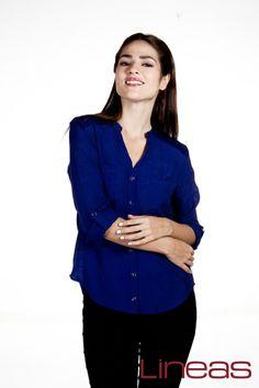 Blusa, Modelo 18148. Precio $200 MXN #Lineas #outfit #moda #tendencias #2014 #ropa #prendas #estilo #primavera #outfit #blusa