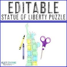 EDITABLE Patriotic Symbols - Great for September 11th learning - 1st, 2nd, 3rd, 4th, 5th, or 6th grade approved - The teacher or a parent volunteer adds the correct problems and solutions to make your OWN puzzles! 5th Grade Classroom, Middle School Classroom, Special Education Classroom, Patriotic Symbols, Reading Recovery, Parent Volunteers, Constitution Day, Ell Students, Study History