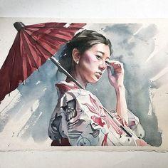 Quarta-feira, #aquarela #watercolor.