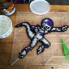 Freeza Dragon Ball perler beads by the_nerdy_girl_crafter