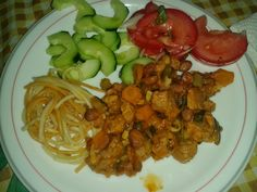coisas simples :): soja com legumes :)