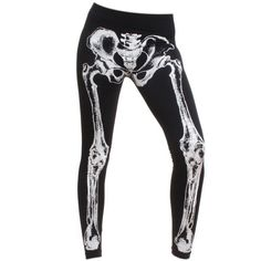 Skeleton Leggings ($44) ❤ liked on Polyvore featuring pants, leggings, tights & leggings, tights, light weight pants, skeleton print leggings, stretchy leggings, legging pants and lightweight leggings