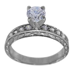 Antique Diamond Engagement Setting For Any Shape Center -  This antique engagement ringcan accommodate any size or shape center diamond.    Brilliant round channel set diamonds go along the band of this ring. Our rings have thick and durable shanks which will give many years of trouble-free wear. Dacarli has been manufacturing diamond jewelry for three generations, since 1939.    At Dacarli emphasis is placed on design, quality, and modern, high-tech manufacturing techniques. The...