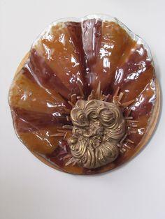 Cerâmica italiana sobre base feita em fusing.