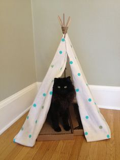 homemade cat teepee I want to make one for my cats