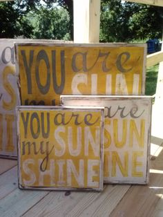 SMALL You Are My Sunshine handpainted signs by LittleRedPorch, $54.00