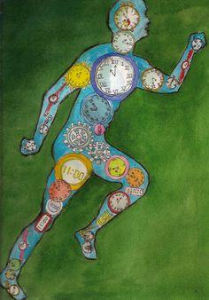 Aquarelle intitulée: Le temps qui court. Les Oeuvres, Creations, Art, India Ink, Watercolor Painting, Craft Art, Kunst, Gcse Art, Art Education Resources