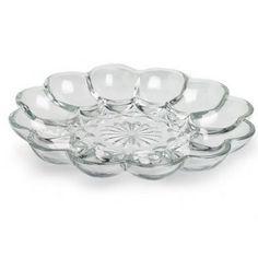 Glass Deviled Egg Tray : $4.31 (reg. $10) http://www.mybargainbuddy.com/glass-deviled-egg-tray-4-31
