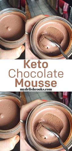 Low Carb Chocolate Mousse All Skinny Recipes Keto Chocolate Mousse Low Carb Desserts, Low Carb Recipes, Diet Recipes, Skinny Recipes, Low Carb Drinks, Low Carb Sweets, Healthy Drinks, Vegetarian Recipes, Low Carb Chocolate Mousse