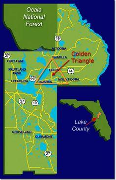 Map of Lake County Florida