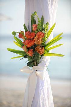 Flowers | Cayman Islands Wedding, Caribbean Beach Wedding