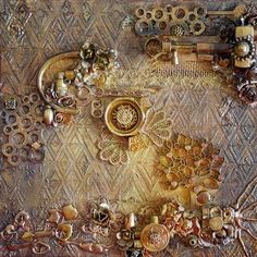 Lizzy Wurmann G.'s Gallery: Rusty canvas (with photo tutorial) Mixed Media Techniques, Mixed Media Tutorials, Art Techniques, Art Tutorials, Altered Canvas, Altered Art, Mixed Media Collage, Mixed Media Canvas, Cadre Diy