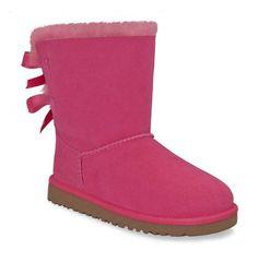 UGG Australia Kid's Bailey Bow Boots Cerise Size 6 UGG, http://www.amazon.com/dp/B005907AHC/ref=cm_sw_r_pi_dp_1PoNqb03P329R