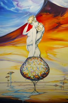 Fly with me | Ora Tamir ~ Israeli Surreal Futuristic painter | TuttArt@ | Pittura * Scultura * Poesia * Musica |