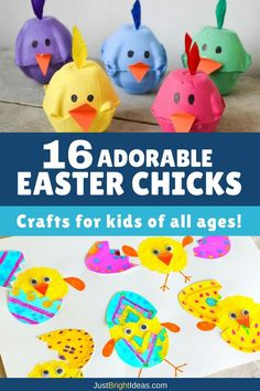 It doesn't get any cuter than these Easter chick crafts for kids and most of the supplies will already be in your craft stash! There's something here for toddlers to teens and all ages in between!