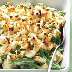 A green bean casserole updated with artichokes adds spark to winter weeknight meals.