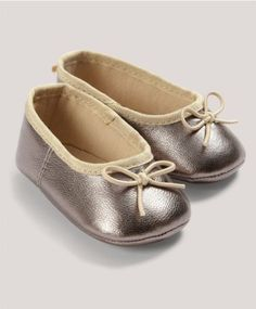 Occasion Silver Ballerina Shoes