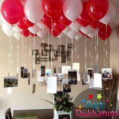 Kırmızı-Beyaz Uçan Balon Demeti 25 Adet MAĞAZADAN fiyatı