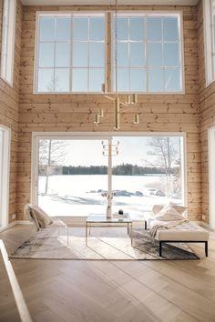 Lempipaikkani uudessa talossa - KAISA T. Luxury Homes Exterior, Dream House Exterior, Nordic Home, Scandinavian Home, Cottage Design, House Design, Home Id, Cottage Living Rooms, Cottage Interiors