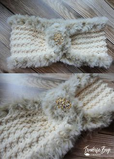 Crochet fur headband free pattern - Handarbeit - New Craft Crochet Headband Pattern, Crochet Hooks, Free Crochet, Knit Crochet, Easy Crochet Headbands, Crochet Sheep, Crochet Slippers, Baby Headbands, Crochet Stitches