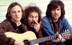 Crosby, Stills and Nash with Crosby doing the picking.