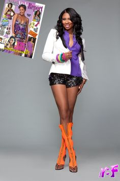 """The """"Basketball Wives"""" star Jennifer Williams looking pretty as usual for the new April/May 2012 issue of Today's Black Woman Style Report magazine. Dope Fashion, Black Women Fashion, Fashion 101, World Of Fashion, Womens Fashion, Fashion Trends, City Fashion, Fasion, Black Celebrity News"""