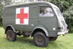 1963 Renault Goelette R2087N Ambulance, Full MOT and Tax exempt, 7224 miles, 4x4
