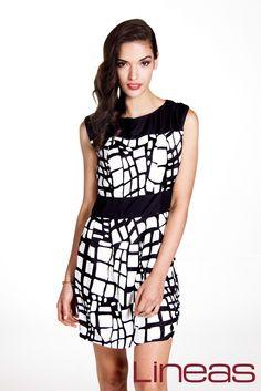 Vestido, Modelo 19601. Precio $100 MXN #Lineas #outfit #moda #tendencias #2014 #ropa #prendas #estilo #primavera #outfit #vestido