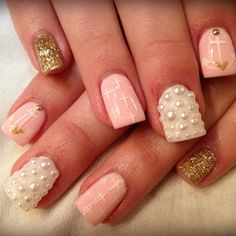 Love the design!but would shape the sides of the nails so there not so chiclet like (wide)