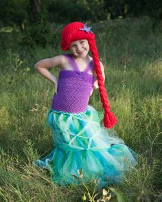 Ariel Little Mermaid Hat Crochet Pattern Merida by TheTwistedK
