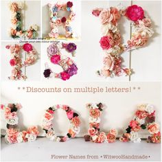 A personal favourite from my Etsy shop https://www.etsy.com/uk/listing/294300255/floral-lettersfloral-monogram-letters12