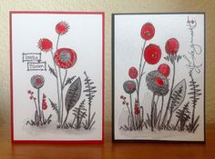 """Die schlichte Karte: PaperArtsy """"Jofy"""" in rot/grau/schwarz"""