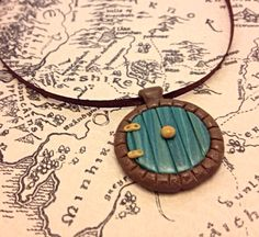 Hobbit Hole Door Pendant, LOTR Inspired Polymer Clay Necklace on Etsy, $14.00
