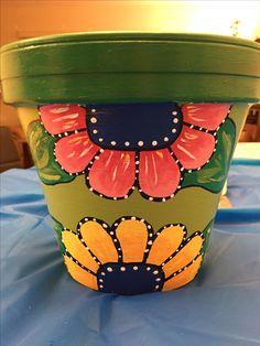 Flower Pot Art, Flower Pot Design, Flower Pot Crafts, Painted Plant Pots, Painted Flower Pots, Clay Pot Projects, Clay Pot Crafts, Pottery Painting, Ceramic Painting