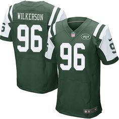 $24.99 Nike Elite Muhammad Wilkerson Green Men's Jersey - New York Jets #96 NFL Home