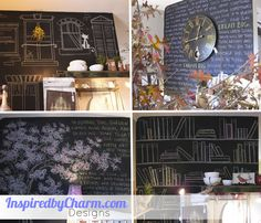 I like the idea of chalk board paint on the wall  in the mud room so that I can write messages to my kids (like don't forget to take your back pack to school!)