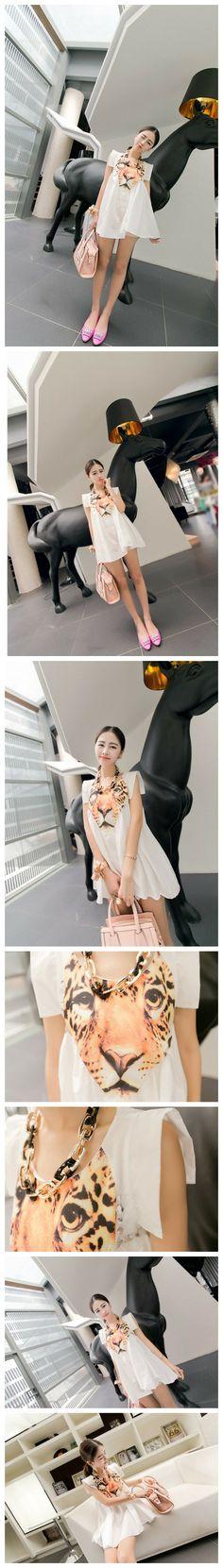 Flare Tiger Mini Dress / Tops 660037