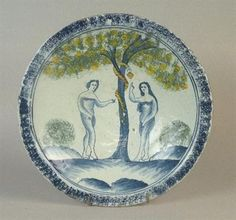 English Delft charger, C1690.