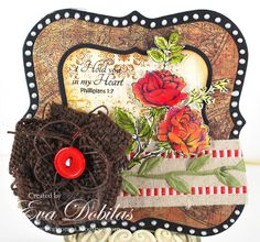 This card was made with JustRite Papercraft's With Sympathy stamp set designed by Eva Dobilas.