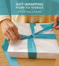 Learn the art of gift-wrapping from the experts at Hallmark in these fun video tutorials. #Hallmark #HallmarkIdeas